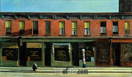 Early Sunday Morning, 1930 | Hopper | Gemälde Reproduktion