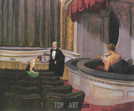 Two on the Aisle, 1927 | Hopper | Gemälde Reproduktion
