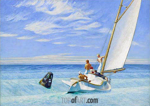 Ground Swell, 1939 | Hopper | Painting Reproduction