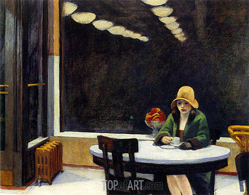 Automat, 1927 | Hopper | Painting Reproduction