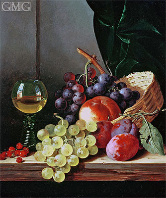 Grapes and Plums, undated | Edward Ladell | Painting Reproduction