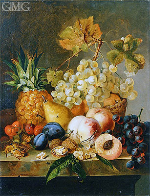 Still Life with Fruit, undated | Edward Ladell | Painting Reproduction
