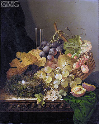 Still Life with a Bird's Nest, undated | Edward Ladell | Gemälde Reproduktion