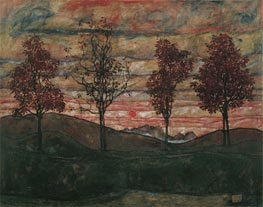 Four Trees | Schiele | outdated