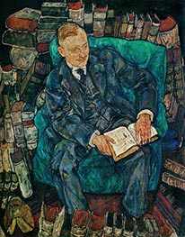 Dr. Hugo Koller, 1918 von Schiele | Gemälde-Reproduktion