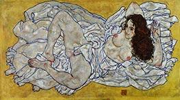 Liegende Frau, 1917 von Schiele   Gemälde-Reproduktion