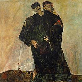 Die Eremiten, 1912 von Schiele | Gemälde-Reproduktion