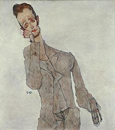 Bildnis des Malers Karl Zakovsek, 1910 von Schiele | Gemälde-Reproduktion