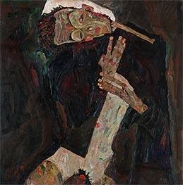 Der Lyriker (Selbstdarstellung), 1911 von Schiele | Gemälde-Reproduktion