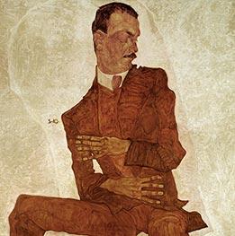 Bildnis Arthur Roessler, 1910 von Schiele | Gemälde-Reproduktion