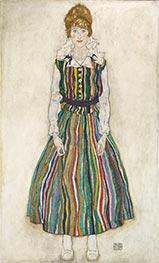 Porträt von Edith Schiele, 1915 von Schiele | Gemälde-Reproduktion