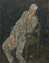 Porträt von Johann Harms, 1916 von Schiele | Gemälde-Reproduktion