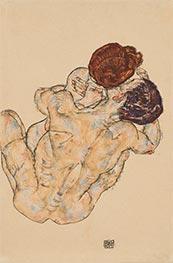 Mann und Frau (Umarmung), 1917 von Schiele   Gemälde-Reproduktion