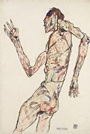 Der Tänzer, 1913 von Schiele   Gemälde-Reproduktion