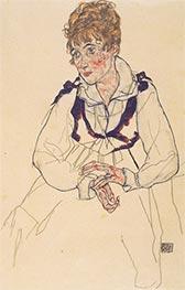Bildnis Edith Schiele, 1917 von Schiele | Gemälde-Reproduktion
