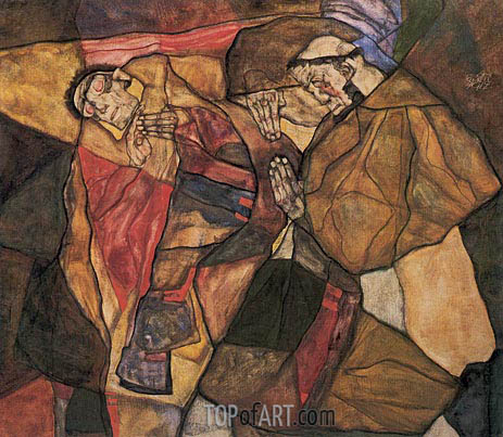 Agony, 1912 | Schiele | Painting Reproduction