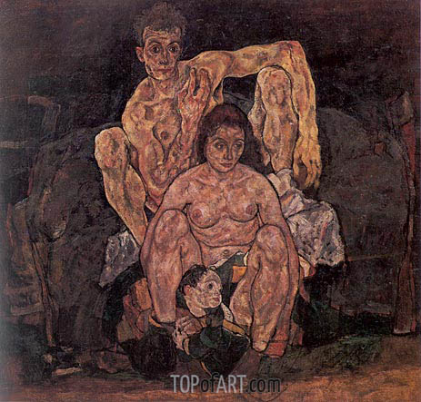 Schiele | The Family, 1918