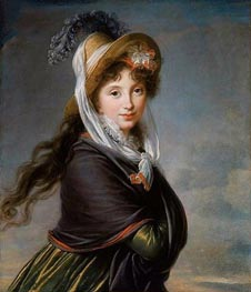 Portrait of a Young Woman (Countess Worontzoff) | Elisabeth-Louise Vigee Le Brun | Painting Reproduction