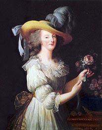Marie-Antoinette en Chemise, 1783 von Elisabeth-Louise Vigee Le Brun | Gemälde-Reproduktion