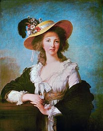 Portrait of Yolande de Polastron, Duchess of Polignac, 1782 von Elisabeth-Louise Vigee Le Brun | Gemälde-Reproduktion