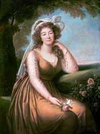 Comtesse du Barry Holding a Rose | Elisabeth-Louise Vigee Le Brun | outdated