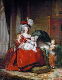Marie-Antoinette and her Children | Elisabeth-Louise Vigee Le Brun | outdated