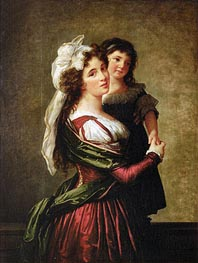 Madame Rousseau and her Daughter | Elisabeth-Louise Vigee Le Brun | Painting Reproduction