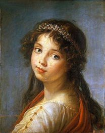 Portrait of the Artist's Daughter, undated by Elisabeth-Louise Vigee Le Brun | Painting Reproduction