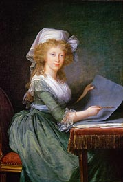 Mary Louise of Bourbon-Sicily, Grand Duchess of Tuscany, 1790 by Elisabeth-Louise Vigee Le Brun | Painting Reproduction