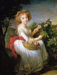 Portrait of Marie-Christine of Bourbon-Naples, c.1790 by Elisabeth-Louise Vigee Le Brun | Painting Reproduction