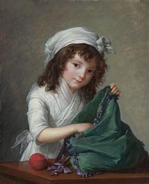 Mademoiselle Brongniart, 1788 by Elisabeth-Louise Vigee Le Brun | Painting Reproduction