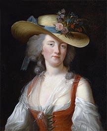 Portrait of Anne Catherine Le Preudhomme de Chatenoy, Comtesse de Verdun, as a Beautiful Gardener, 1788 by Elisabeth-Louise Vigee Le Brun | Painting Reproduction