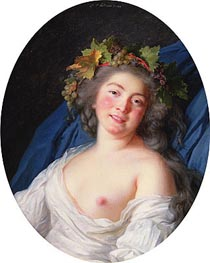 Bacchante, 1785 by Elisabeth-Louise Vigee Le Brun | Painting Reproduction