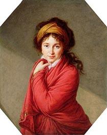 Portrait of Countess Varvara Nikolaevna Golovine, nee Galitzine, c.1797/00 by Elisabeth-Louise Vigee Le Brun | Painting Reproduction