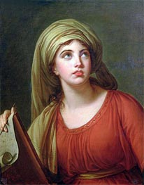 Portrait of Emma Hart, later Lady Hamilton, as a Sibyl, c.1792 by Elisabeth-Louise Vigee Le Brun | Painting Reproduction