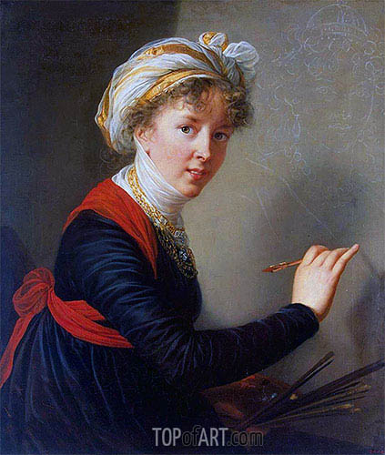 Self-Portrait, 1800 | Elisabeth-Louise Vigee Le Brun| Painting Reproduction