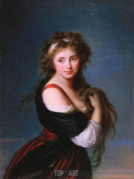 Hyacinthe Gabrielle Roland, Marchioness Wellesley, 1791 | Elisabeth-Louise Vigee Le Brun | Painting Reproduction