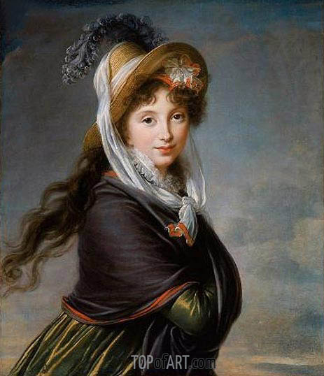 Portrait of a Young Woman (Countess Worontzoff), c.1797 | Elisabeth-Louise Vigee Le Brun| Gemälde Reproduktion