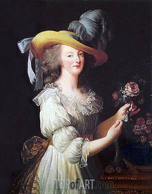 Marie-Antoinette en Chemise, 1783 | Elisabeth-Louise Vigee Le Brun | Painting Reproduction