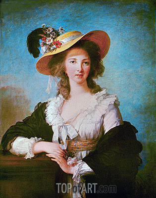 Portrait of Yolande de Polastron, Duchess of Polignac, 1782 | Elisabeth-Louise Vigee Le Brun | Painting Reproduction