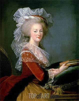 Elisabeth-Louise Vigee Le Brun | Portrait of Marie Antoinette, undated