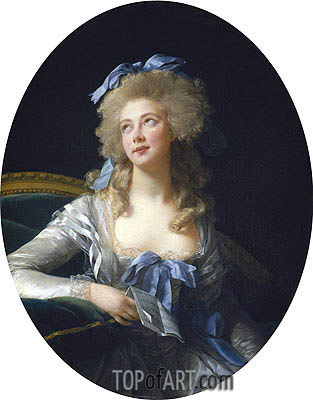 Elisabeth-Louise Vigee Le Brun | Madame Grand (Catherine Noele Worlee), Later Madame Talleyrand-Perigord, Princesse de Benevent, 1783
