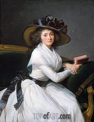 Comtesse de la Chatre (Marie Louise Perrette Aglae Bontemps), Later Marquise de Jaucourt, 1789 | Elisabeth-Louise Vigee Le Brun| Painting Reproduction