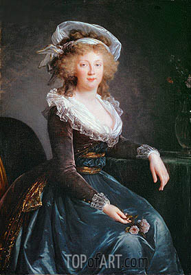 Maria Theresa of Bourbon, undated | Elisabeth-Louise Vigee Le Brun | Painting Reproduction