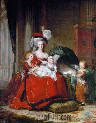 Elisabeth-Louise Vigee Le Brun | Marie-Antoinette and her Children, 1787