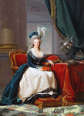 Queen Marie-Antoinette, 1788 | Elisabeth-Louise Vigee Le Brun | Painting Reproduction