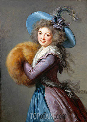 Madame Mole-Raymond, 1786 | Elisabeth-Louise Vigee Le Brun | Painting Reproduction
