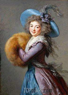 Madame Mole-Raymond, 1786 | Elisabeth-Louise Vigee Le Brun | Gemälde Reproduktion