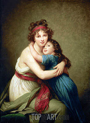 Elisabeth-Louise Vigee Le Brun | Madame Vigee-Lebrun and her Daughter Jeanne-Lucie-Louise, 1789