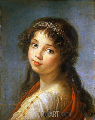 Elisabeth-Louise Vigee Le Brun | Portrait of the Artist's Daughter, undated